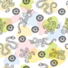 Seamless pattern with aboriginal design
