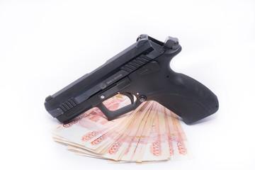 Пистолет травматический и деньги