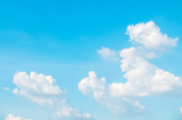 Clear Blue Sky with Cloud as Frame used as Template to input Text
