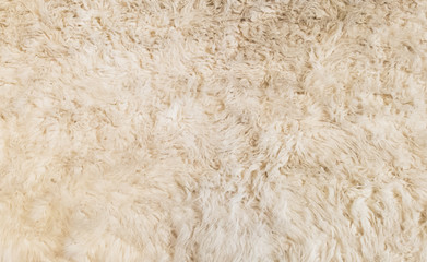 Soft White Fur Background Texture for Furniture Material