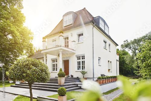 """Germany, Hesse, Frankfurt, View Of Villa With Garden"