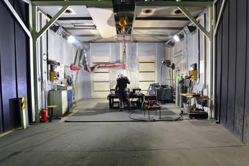 Workplace of a welder