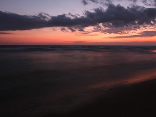 Beautiful sea sunset in summer time