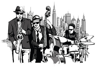 Wall Mural - Jazz band in New-York