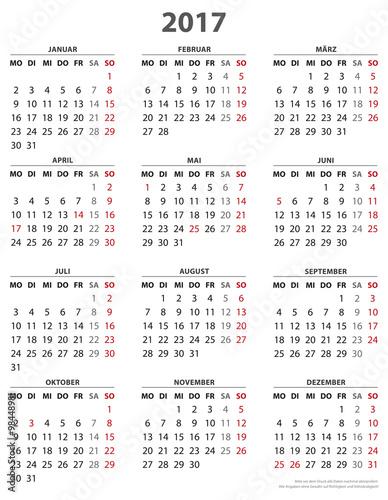 """Jahreskalender 2016"" Stock"