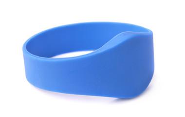 Blue silicone RFID bracelet