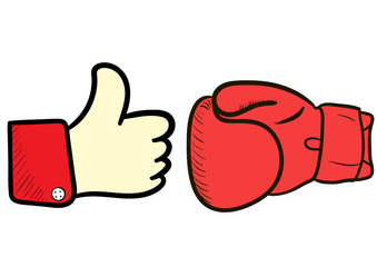 Boxing glove and like