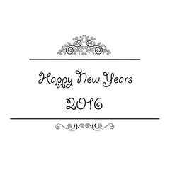 Happy new years vintage design