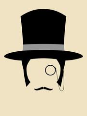 Gentleman Wearing Vintage Hat