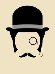 Gentleman Wearing Bowler Hat