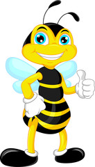 bee cartoon thumb up