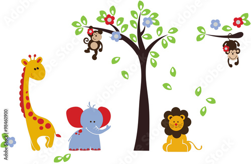 Animales Africanos Infantiles Stock Image And Royalty Free Vector - Fotos-de-animales-infantiles
