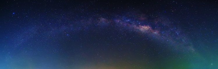Milky Way with stars and space dust at night