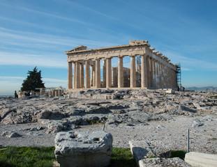Keuken foto achterwand Athene The Greek Parthenon atop the Acropolis in Athens, Greece