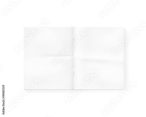 u0026quot open blank newspaper mock up isolated on white  white gazette mockup presentation  magazine