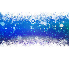 Cold Blue Holidays background with snowflakes