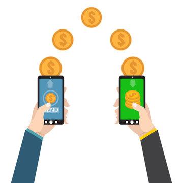 Sending and receiving money. Send money wireless .