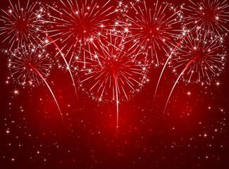 Red sparkle firework