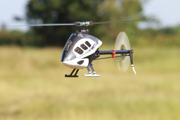 radio control helicopter hovering