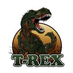 Agressive t rex illustration