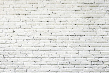White brick wall texture, abstract background