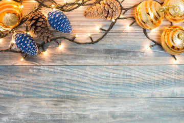Vintage Christmas background with Christmas decoration