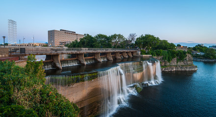 Rideau Falls as summer evening approaches.
