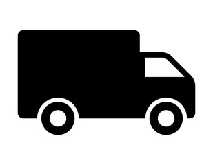 Shipping delivery truck flat icon for apps and websites