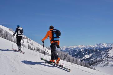 Auf Skitour im Aufstieg
