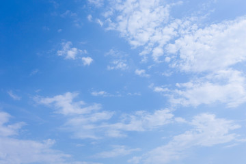 blue sky with cloud, clear weather sky background