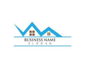 property home building logo template