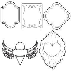 label lined pattern set