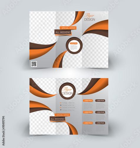 Brochure Mock Up Design Template For Business Education