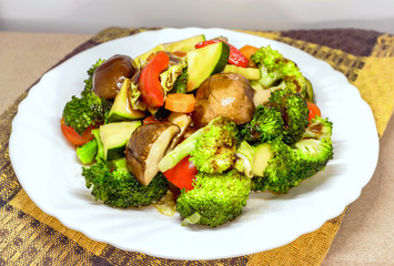 Vegetarian food, Fried vegetable with soy sauce