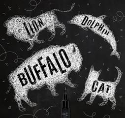 Tangled line buffalo