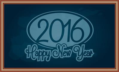 New year message on chalkboard