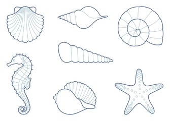 how to draw ese cute underwater animals