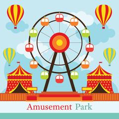 Ferris Wheel, Amusement Park, Carnival, Fun Fair, Theme Park, Circus, Day Scene