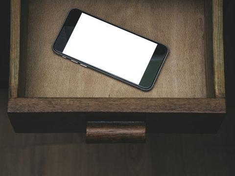 Smartphone.Classic Black Smartphone.