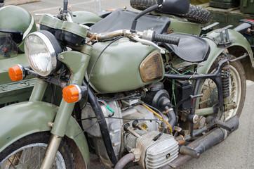 Old (60-70th) military motor bike