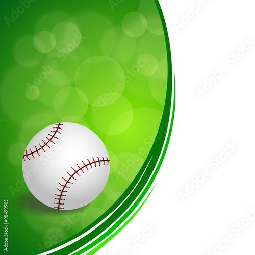ca08032efddb Background abstract green baseball ball circle ribbon frame illustration  vector
