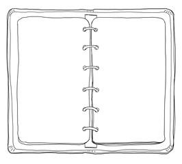 cute vintage notebook lineart