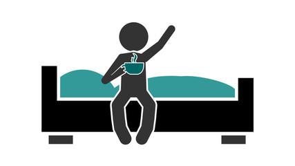 babs0 BedAndBreakfastSign - banner symbol - bed and breakfast - 16zu9 g4099