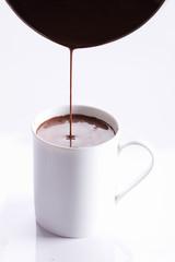 hot chocolate drink in white mug