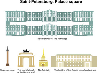 Palace square. Saint-Petersburg. Russia