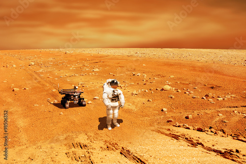 Wall mural Martian Explorer No.1h - Elements of this image furnished by NASA