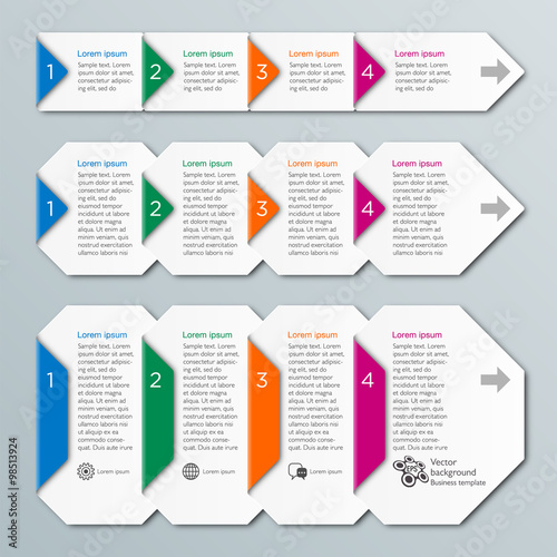 quot Vector Graphic Flow Chart 4 Step Process quot Stock image