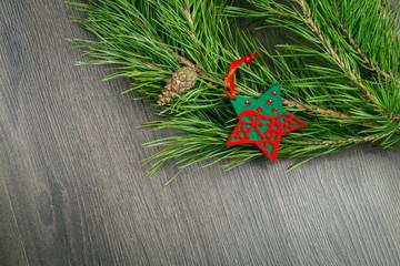 Elegant classic christmas background card for holidays