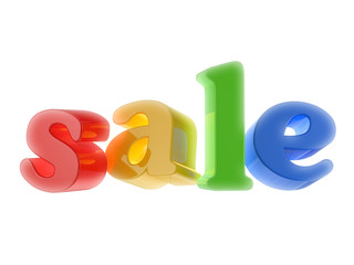 Sale colored text