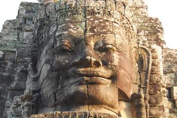 Facce di pietra del tempio di Bayon ad Angkor, Cambogia